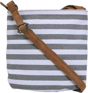 Urbanity Beautiful Pink Stylish Sling Bag for Women (Grey)