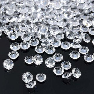 Stylewell (Pack Of 100 pcs) Round Crystal Gem Diamond Stone Pearl Bead For Jewellery Beading, Decorations, Arts Craft