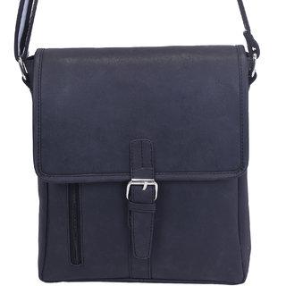 Urbanity Casual Travel Men's Shoulder Messenger Sling Bag D Buckle Hook (Black)