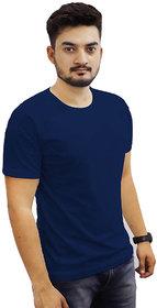 The Chambal Indigo Round Neck Plain T-Shirt