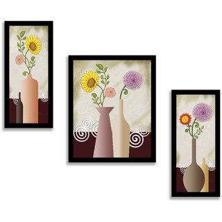 Madhav Art Floral Rectangular Synthetic Wood Art Painting