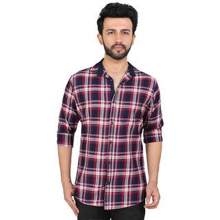 TrustedSnap Pink Casual Check Shirt