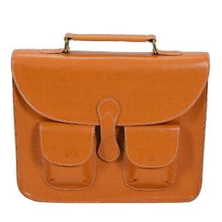 Urbanity Tan Leather 15 Inch Laptop Bag