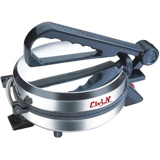 Elvin Silver Durable Electric Machine Non-Stick Papad/Phulka/Khakhra/Roti/Chapati Maker For Home Kitchen Multi Utility