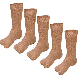 Avyagra Men's Formal Cotton Mid-Calf Socks (Multicolur)-Pack of 5