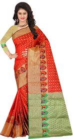 Fabrica Shoppers New Designer South Silk Red Color Patola Saree