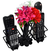 DV ENGINEERING Metal Unique Flower VASE Remote Holder/Stand/Organizer for TV, AC, DVD, STB, DTH. Remotes (Black)