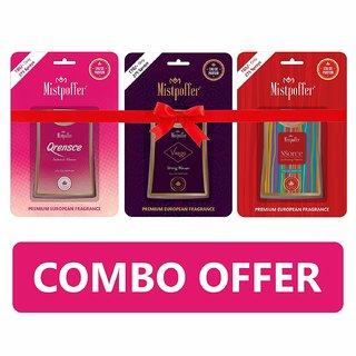 Mistpoffer Nsorce, Qrensce, Virago Pocket Perfume, Premium European Fragrance Combo Offer 275 Sprays Pack of 3 for Women (18 ml Each)