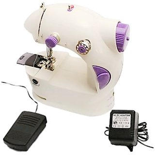 Bharat Shopping Hub mini portable electrical sewing machine with foot pedal