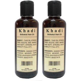 Khadi Shikakai Hair oil 210ml (Pack of 2 )