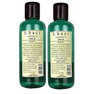 Khadi Tulsi Hair oil 210ml (Pack of 2 )