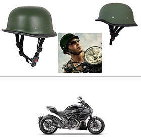 AutoStark German Style Half Helmet (Green) for Ducati Diavel