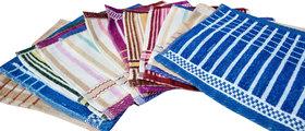 Z decor Set of 8 Pure cotton Face towel (10x10 inch) multicolor