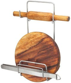 OSE High Quality ( Stainless Steel ) Chakla Belan Stand For Kitchen Only Belan Stand