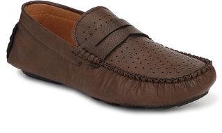 Viuuu Men's Brown Synthetic Slip on Driving