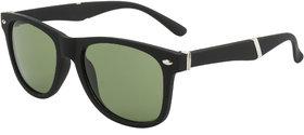 Fair-X Green Glass Lens SS318 Matte Finish Wayfarer Sunglasses
