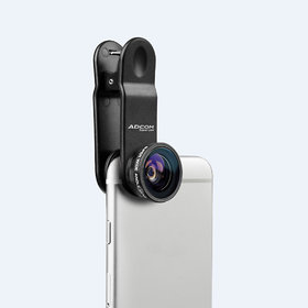 Adcom AD - F30 Full Screen 0.3x Super Wide Angle Mobile Phone Camera Lens - Universal Clip On Cell Phone Travel Lens