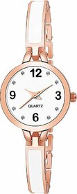 Swadesi Stuff New Attractive Watch Copper  White Watch Bracelet Watch - for Girls 76 white