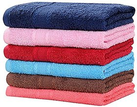 COTTON COLLECTION Proudly Presents IMPORTED Pure Cotton Ultra Luxury Hand Towel 500 GSM (4060 Cms - 6 Pcs.