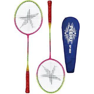 Star X PEEHU Steel Badminton Racquet Adult G4 Set of 2