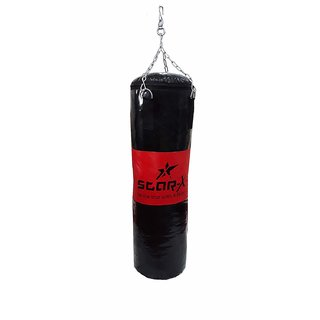 Star X Black Red Synthetic Leather Filled Punching Bag (Size 36 Inch)