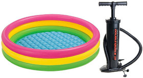 MySale 2 Feet Broad Inflatable Indoor Outdoor Swimming Pool with Pump Gift for Kids
