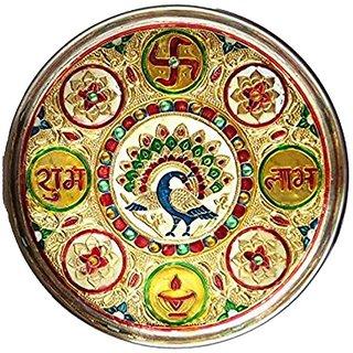 Meenakari pooja thali (12 inch )
