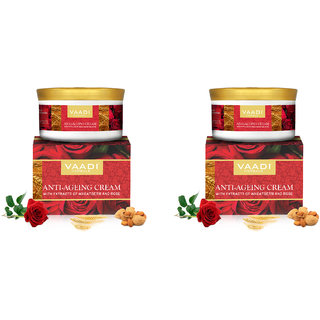 Vaadi Herbals (Pack of 2) Anti Ageing Cream with extracts of Almonds Wheatgerm and Rose