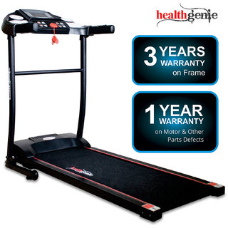 Healthgenie 3911M 1.0HP (2.5 HP at Peak) Foldable Motorized Treadmill for Home Use Fitness Max Speed 10 Kmph