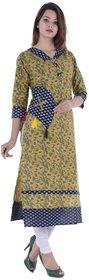KRG Women Stitched Straight Printed Kurti Cotton Kurti Jaipuri Kurti