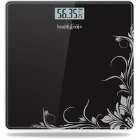 Healthgenie Electronic Digital Weighing Machine Bathroom Personal Weighing Scale, Max Weight  180 Kgs, Weighing Scale (Black Pattern)