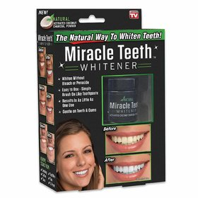 Generic Miracle Teeth - The Natural Teeth Whitening System Made With Activated Coconut Charcoal Powder
