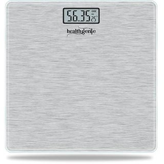 Healthgenie Electronic Digital Weighing Machine Bathroom Personal Weighing Scale, Max Weight  180 Kgs, Weighing Scale (Silver Brushed Metallic)
