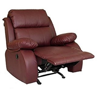 houzzcraft Anchor manual recliner maroon (Leatherette)