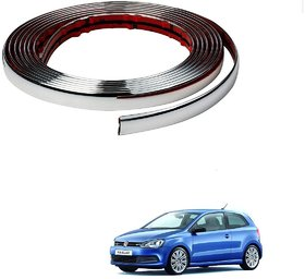 Auto Addict Car Side Window Chrome Beading Roll 10MM 20 Mtr For Volkswagen Polo GT