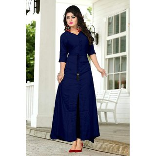 Stylist new reyon nevy blue kurti for Women
