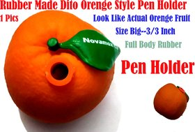 Pen Holder Actual Orenge Style ( Made With Rubber)