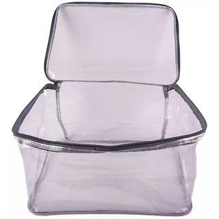 Transparent Grey Saree Cover 6 Pcs set