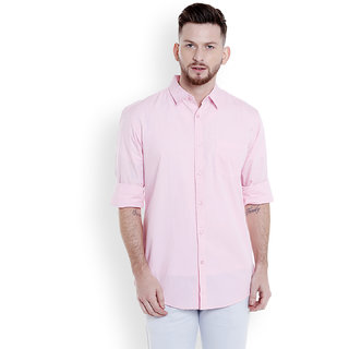 29K Mens Solid Slim Fit Cotton Casual Shirt