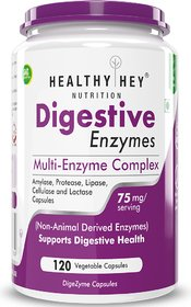 HealthyHey Nutrition Digestive Enzyme - Multi-Enzyme Complex - 75mg-120 Vegetable Capsules