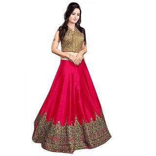 Saadhvi Pink Art Silk Lehenga Choli
