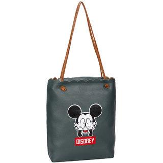 Green PU Tote Bag