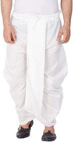 DISONE White Cotton Dhoti Pant set for Men