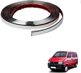 Auto Addict Car Side Window Chrome Beading Roll 15 MM 20 Mtr For Maruti Suzuki Eeco