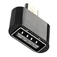 Just Click Micro USB OTG Adapter Black  Pack of 1