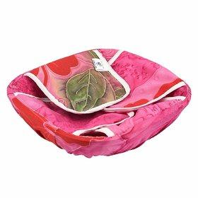 Plastic Roti Cotton Cloth Basket with Chain (Multicolour)