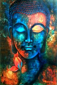 Giant Innovative - Lord Buddha Religious Wall Decor Poster for Home and Office GI151 (250 GSM Paper, 12 x 18 Inch)