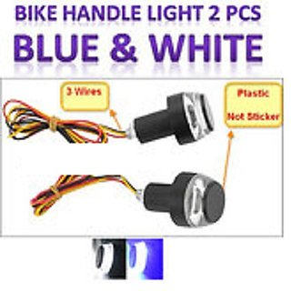 Bike / Motorcycle Handlebar / Turn Signal LED Light / Blinker Indicator Handle Bar Indicator LED Light 2 PCS (BLUE)