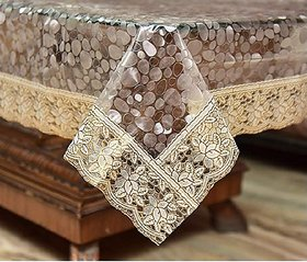 HomeStore-YEP Designer Center Table Cover Waterproof (LXB) 60 X 40 Inches, Golden Lace