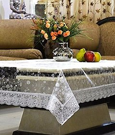 HomeStore-YEP Designer Center Table Cover Waterproof (LXB) 60 X 40 Inches, Silver Lace